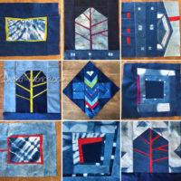 Studio Snapshot | Lots of Small Improv Indigo Quilts