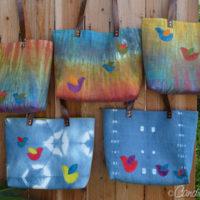 Newest Bag Design | Leather Handled Linen Totes