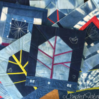 Studio Snapshot | Work on the Small Improv Indigo Quilts