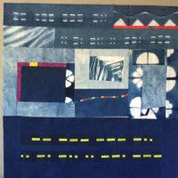 Studio Snapshots | More Work on More Improv Indigo Art Quilts