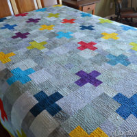 Blogger's Quilt Festival | My Scrappy Swiss Cross Quilt!