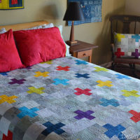 17 | The Crinkly Goodness of a Washed Scrappy Swiss Cross Quilt!