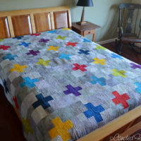 16 | My Scrappy Swiss Cross Quilt is COMPLETE!!!!