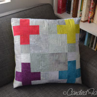 13 | A Scrappy Swiss Cross Pillow