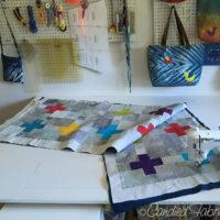 14 | Quilting on my Scrappy Swiss Cross Quilt has Begun!!!