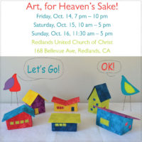 Art, for Heaven's Sake this Friday through Sunday