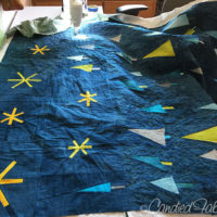 7 | Quilting my Wonky Tree Quilt