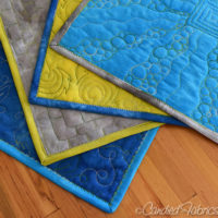 Placemats for Free Motion Quilting Practice