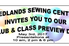 Redlands Sewing Center Preview Day is Next Wednesday!