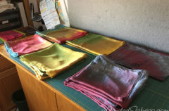 Studio Snapshots   Piles of Silk Scarves!