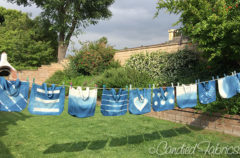 Studio Snapshots | Indigo Dyeing Some Going Green Totes