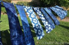Studio Snapshots | Indigo Dyeing Scarves