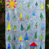 4 | The Top of My Wonky Tree Baby Quilt is Complete!