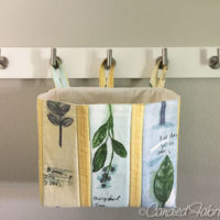 Practical Sewing | A Hanging Basket for Delicate Laundry
