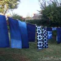 Studio Snapshot | Indigo Dyeing Scarves and Tees