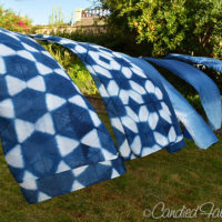 New Indigo Dyed Scarves (and Tees for Me too!)