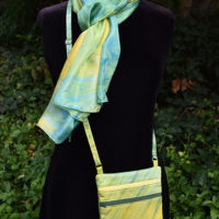 Custom Dyed Scarves and Bag for a Packers Fan!