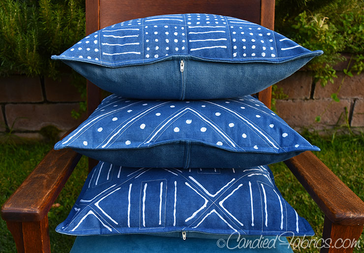i learned that white quilting really accentuated these when making the new cross body leather strap bags so i quilted these pillows that way