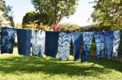 10 New Indigo Dyed Scarves for My Upcoming Open Studio