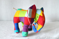 Introducing Elmer the Hand Dyed Patchwork Elephant!