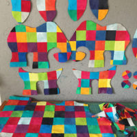 Studio Snapshots | A Patchwork Elephant for a Little Boy Who Loves Elmer!