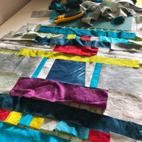 Studio Snapshots | An Improv Sampler Quilt