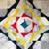 Studio Snapshots | Improv Sampler Quilt Block 4