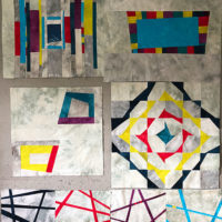 Studio Snapshots | Block #5 of My Improv Sampler Quilt