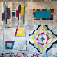 Studio Snapshots | Block #6 of My Improv Sampler Quilt