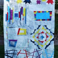Studio Snapshots | My Improv Sampler Quilt is Complete!