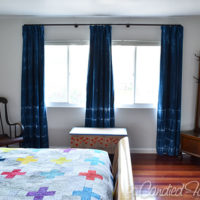 New Shibori Dyed Curtains in a Freshly Painted Bedroom!!!!