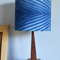 Lampshades Made with Indigo Dyed Essex Fabric!