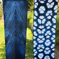 Studio Snapshots | Indigo Dyeing Fabric for…Lampshades!!!