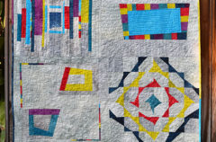 Completed Improv Piecing Quilt!