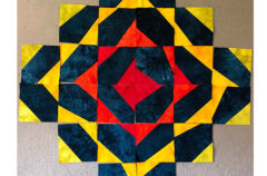 Studio Snapshots   Starting a Wonky Triangle Medallion Quilt