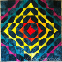 Studio Snapshots | Blocks on My Wonky Triangle Medallion Quilt are Complete!