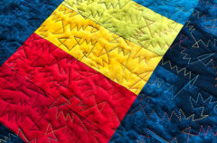 Studio Snapshots   Quilting Has Begun on My Wonky Triangle Medallion Quilt