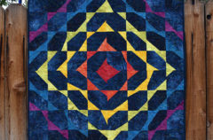 Completed Wonky Triangle Medallion Quilt!!!