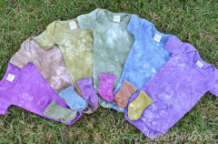 Another Hand Dyed Baby Layette!