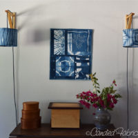 I Made Sconces with Indigo Dyed Shades!