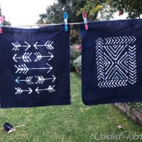 Studio Snapshots | Glue Resist Indigo Dyed Fabric