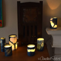 Something New: Shibori Shades Votive Candle Covers!