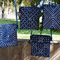 8 Indigo Simple Zip Cross Body Bags