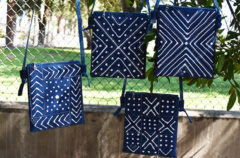 8 Indigo Simple Zip Cross Body Bags